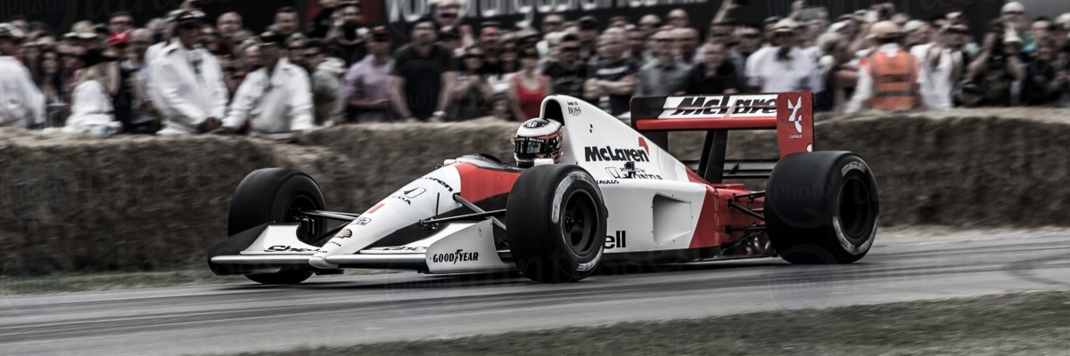 McLaren MP4-5 F1 Car @ Goodwood Festival of Speed 2015 in West Sussex, England.