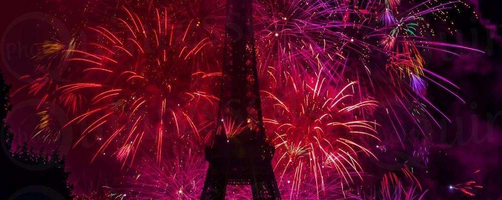 la fete nationale le 14 juillet Bastille Day Fireworks
