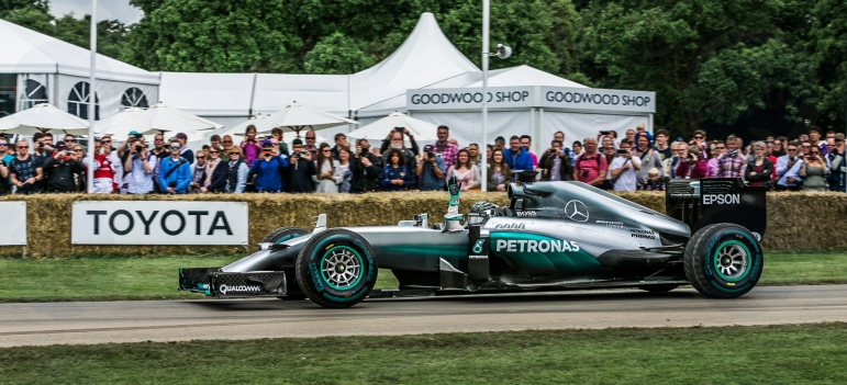 F1 Mercedes Benz W05 Hybrid @ Goodwood Festival of Speed 2016.