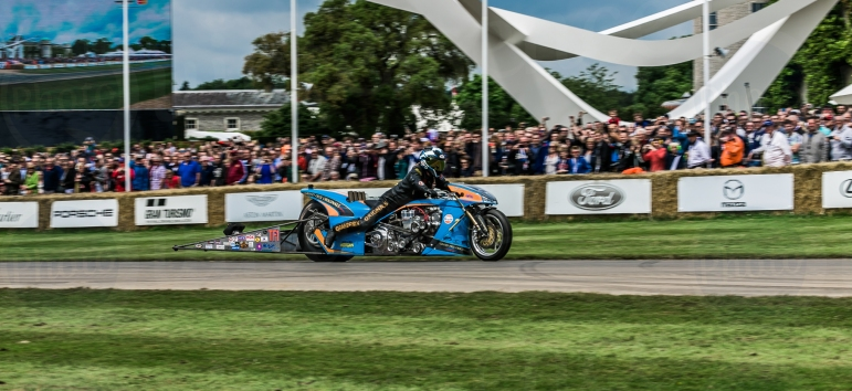 Ian King Drag Racing Bike @ Goodwood Festival of Speed 2016. Nico Rosberg.